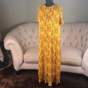 ZARA pleated maxi dress